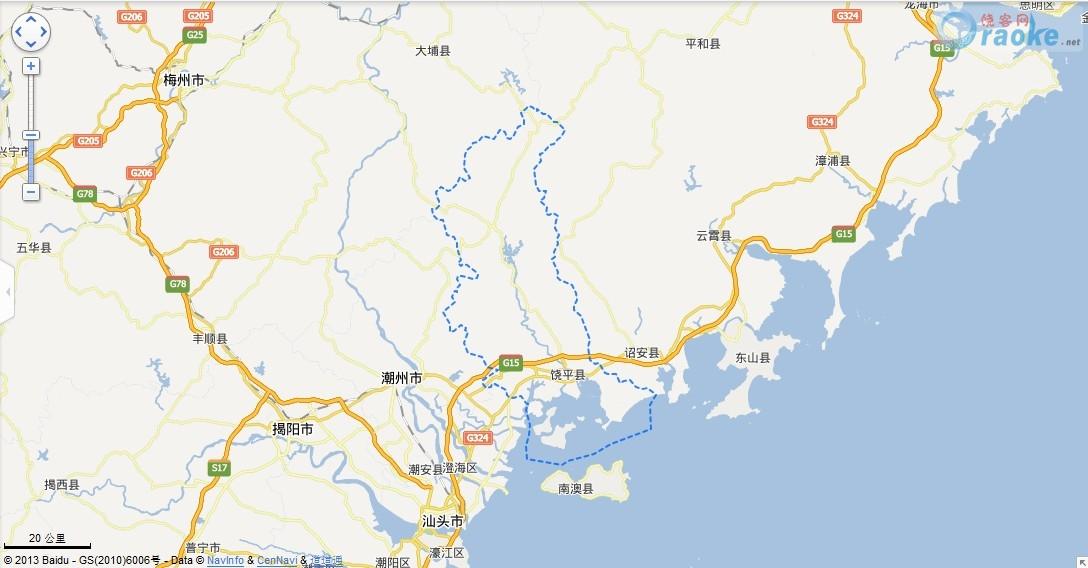 广东潮州饶平地图 广东潮州饶平百度地图
