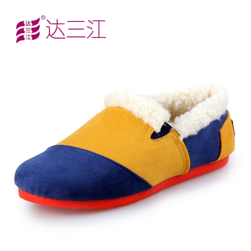三江/达三江 老北京布鞋 冬季女鞋保暖平底单鞋毛毛鞋棉鞋女款