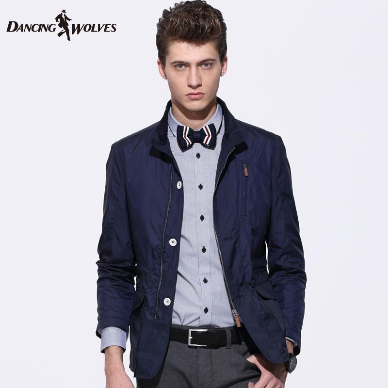 男士 立领/2014春装新品 与狼共舞夹克男士外套立领男装正品jacket 1520